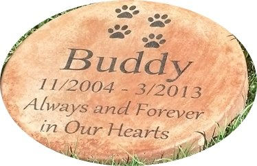 Cheap  Personalized Pet Memorial Step Stone 11