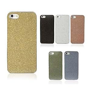 Shimmering Powder Back Case for iPhone 5/5S(Assorted Color) --- COLOR:Black