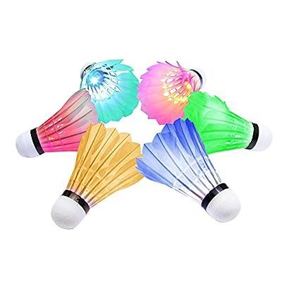 OuTera Shuttlecock Badminton Birdies Badminton Glow in the Dark Shuttlecocks Fun for Your Family[1 Year Warranty]