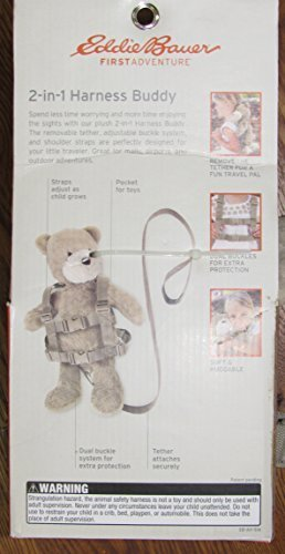 Eddie Bauer Harness Buddy, Bear - Tan