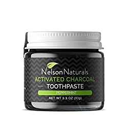Nelson Naturals Activated Charcoal Toothpaste 2 oz- Peppermint