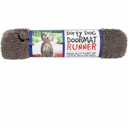 (Dog Gone Smart Dirty Dog Doormat Runner, Grey)