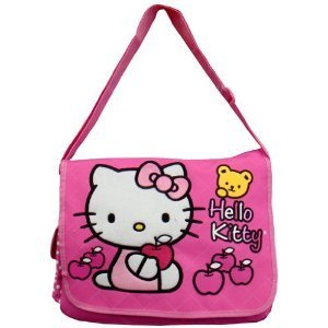3682eb29c7 Image Unavailable. Image not available for. Color  Hello Kitty Messenger Bag  (Pink ...