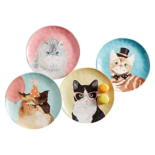 Party Cats Salad Plate Set of 4 by Pier 1 Imports by Pier 1 Imports