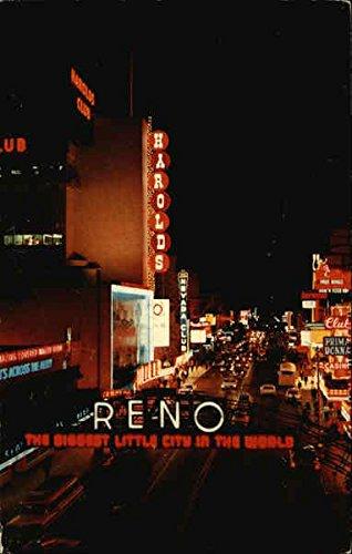 Reno, The Biggest Little City in the World Reno, Nevada Original Vintage Postcard (Reno The Biggest Little City In The World)