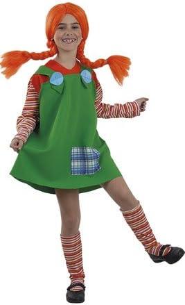 Disfraz de Pipi Calzaslargas Verde para niña: Amazon.es: Juguetes ...