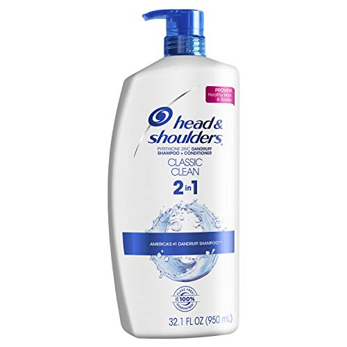 Head and Shoulders Classic Clean Anti-Dandruff 2 in 1 Shampoo and Conditioner, 32.1 fl oz (Packaging May Vary) - Shampoo Dandruff 1 2in