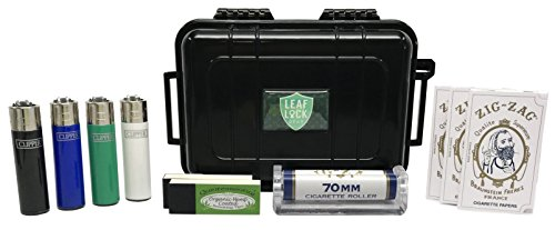 Zig Zag White Rolling Papers (3 Pack), Zig Zag 70mm Roller, Quintessential Rolling Tips (2 Pack), Leaf Lock Gear Travel Case, with Short Solid Color Clipper Lighers - 11 Item Bundle by Zig Zag, Leaf Lock Gear (Image #5)