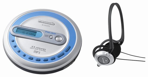 Remanufactured Panasonic SL-SV573J Portable CD Player with FM/AM Tuner, Wired Remote, and CD Jogger Case