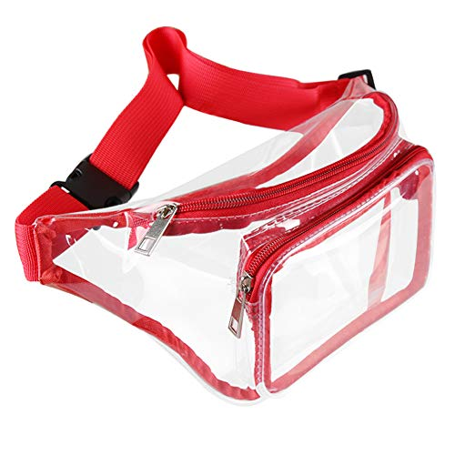 Mum's memory Clear Fanny Pack for Women - Waterproof Transparent Men Waist Pack NFL & PGA & NCAA Stadium Approved Clear Bag
