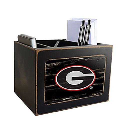Georgia Bulldogs Desktop Organizer - NCAA Georgia Bulldogs Distressed Team Logo Desktop Organizer