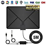 HD Digital TV Antenna Indoor Long 60-90 Miles Range with Support 4K 1080p & All Older TV's for Indoor with Powerful HDTV Amplifier Signal Booster