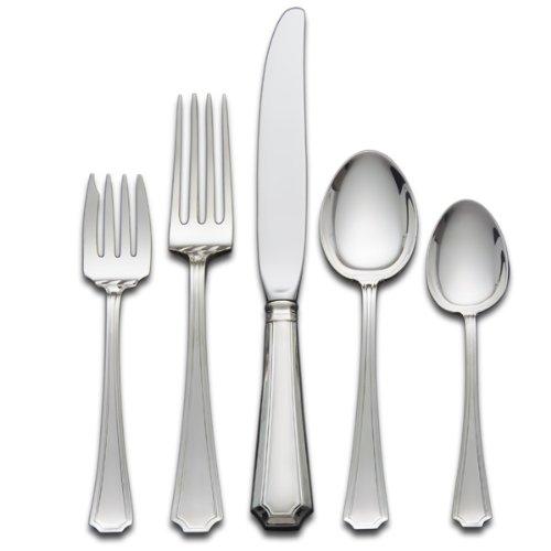 Gorham Fairfax 5-Piece Sterling Silver Flatware Place Set, Service for 1 (Gorham Sterling Place)