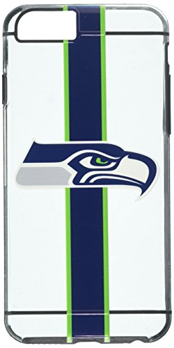 Luxmo Official Licensed Apple iPhone 6/6S Fusion TPU Case Rugged Slim Hard Shell Transparent Team Logo Cover (Exclusive) (Seattle Seahawks)