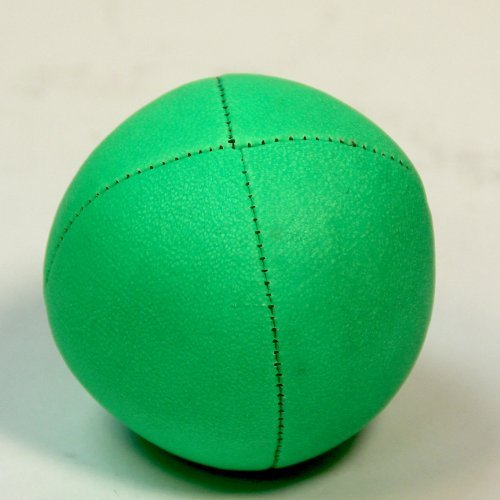 Play Eco Leather 120g Beanbag or Juggling Ball - Green