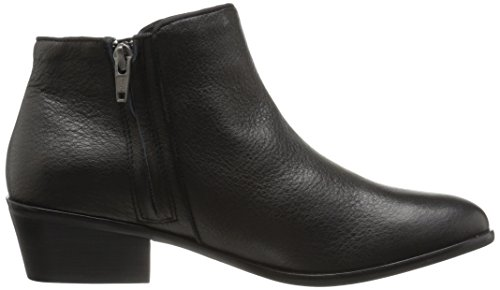 206 Collective Women's Magnolia Low Heel Ankle Bootie Black Leather
