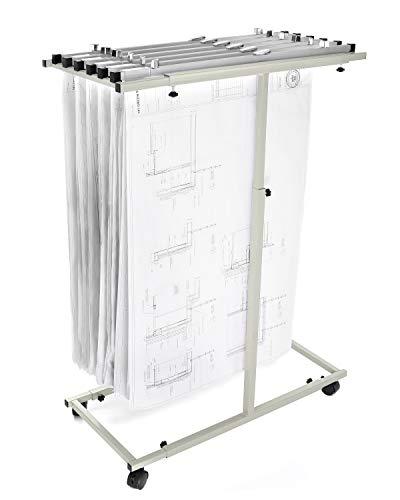 (Adir Corp. 614 Mobile Vertical Plan Center for Blueprints - Sand Beige)