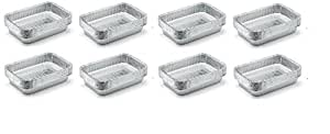 Weber 6415 Small 7-1/2-Inch-by-5-inch Aluminum Drip Pans, Set of 10 (8-Sets of 10)