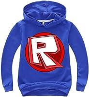fashion 1938 Kids Child Roblox Pullover Sweatshirt-Casual Long Sleeve Hoodies for Boys Girls