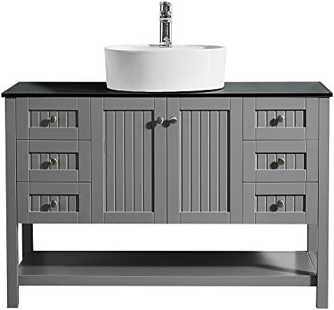 Elanti Collection EC1806 Bathroom Sink, Rectangular 17.38 x 8.63 x 3.50 , White