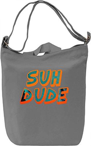 Suh Dude Borsa Giornaliera Canvas Canvas Day Bag| 100% Premium Cotton Canvas| DTG Printing|