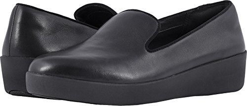 FitFlop New Women's Audrey Smoking Slipper Slip On Black 8.5