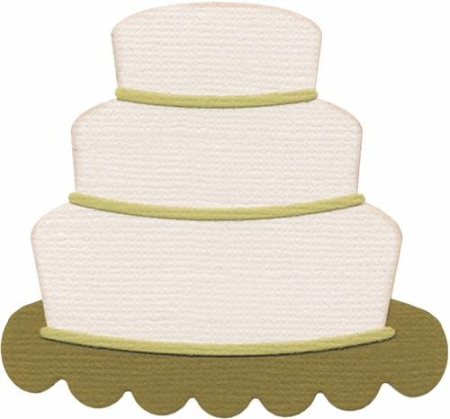 We R Memory Keepers 4-Inch by 4-Inch Die, Wedding Cake, Basic (Cake Quickutz)