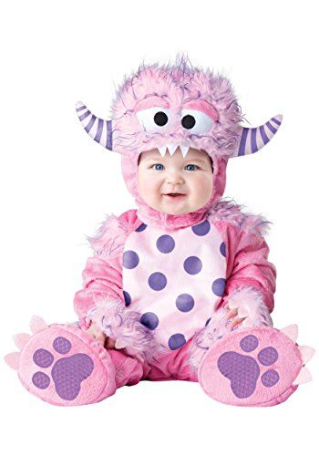 InCharacter Baby Girls' Lil' Monster Costume, Pink, Small -
