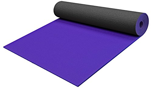YogaAccessories 1/4'' Extra Thick High Density Yoga Mat - 74