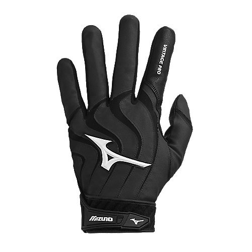 Mizuno Vintage Pro G4 Batting Gloves (Black, Large)