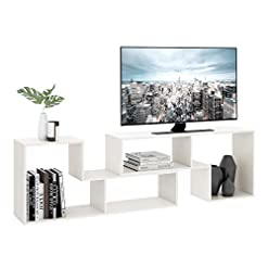 Living Room DEVAISE TV Console Stand, Modern Entertainment Center Media Stand, TV Table Storage Bookcase Shelf for Living Room, 0.59… modern tv stands