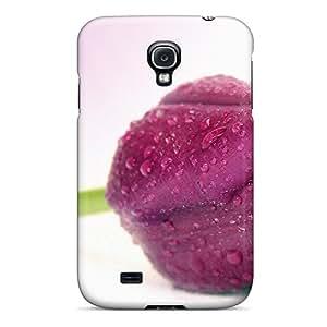 Fashion Protective Spring Rain Tulip Case Cover For Galaxy S4