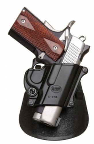Fobus-Tactical-C-21B-Paddle-Right-Hand-Holster-For-Colt-45-Government-All-1911-style-FN-High-power-FN-49-Kimber-45-inch-Sasilmaz-Klinic-2000-light-Browning-Hi-power-Black