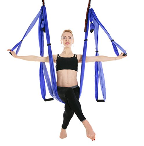 Ranbo aerial yoga trapeze set Ultra Strong Antigravity Yoga Swing / Hammock...