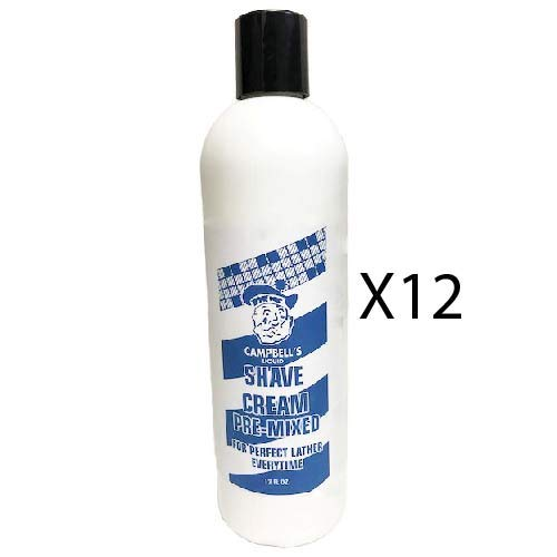 Case of 12 Campbell's Pre-Mixed Shave Cream 12oz by Morris Flamingo