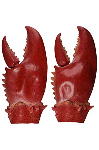 MIGHTYCOS Halloween Latex Giant Lobster Claws Adult Cosplay Amor Golves Novelty Toy Costume Props Red -