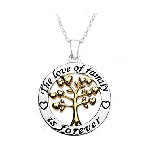 [Inspirational Necklace for Women Teen Girls - Family Life Love Tree Fashion Jewelry Open Pendant] (Diy Cute Costumes For Teenagers)