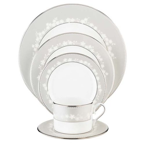 (Lenox Bellina Bone China Platinum Banded 5-Piece Place Setting, Service for 1)