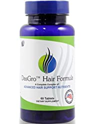 DasGro Hair Growth Vitamins With Biotin & DHT Blocker, Stops Hair Loss, Thinning, Balding, And Promotes Hair Regrowth In Men & Women, All Hair Types, 30 Day Supply