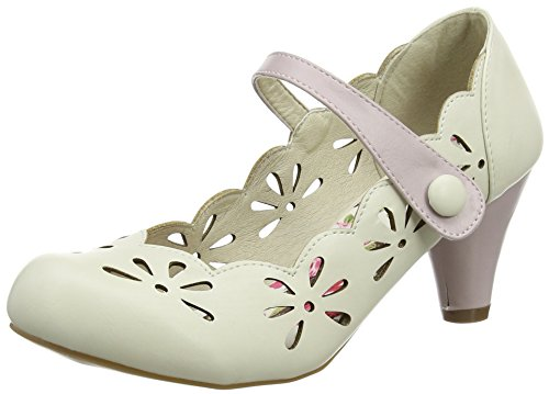 Joe Browns Damen Fit For The Occasion Shoes Pumps Off-White (Cream)