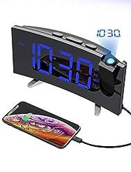 PICTEK Projection Alarm Clock, 15 FM Rad...