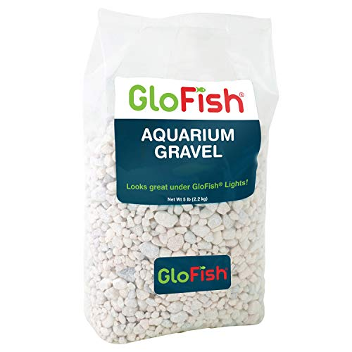 GloFish Aquarium Gravel 5 Pounds, White, Complements Tanks