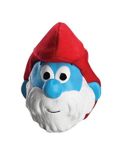 [Smurfs Movie Papa Smurf Mask,One Size] (Smurf Costume 2 Year Old)