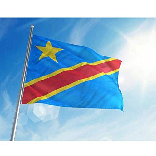 Value-Smart-Toys - The Congo (Congo-Kinshasa) Polyester Flag 5x3 FT 150x90 CM National Flag ()
