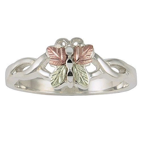Black Hills Gold Butterfly Ring made of Sterling Silver