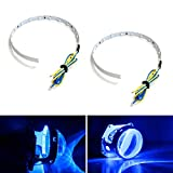 2014 accord halo headlights - iJDMTOY Ultra Blue 15-SMD High Power LED Demon Eye Halo Ring Kit for Car Motorcycle Headlight Projectors or Aftermarket 2.5