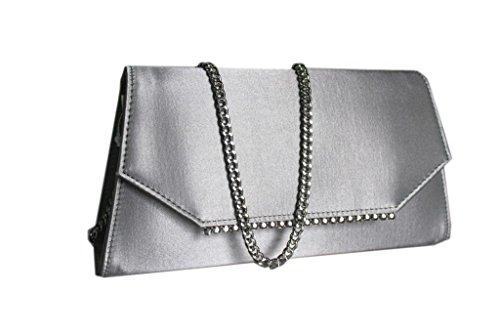 Borsetta donna Annaluna linea elegante 04 argento made in Italy