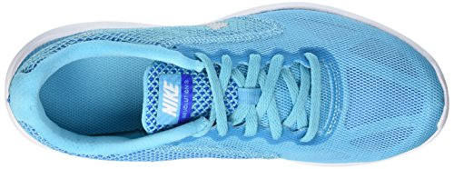 Nike Womens Revolution 3 Scarpe Da Corsa Gamma Blu / Foto Blu / Gioco Reale / Metallico