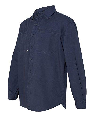 - DRI Duck Men's 4342 Mason Performance Long Sleeve Button Down Work Shirt (X-Large, Deep Blue)
