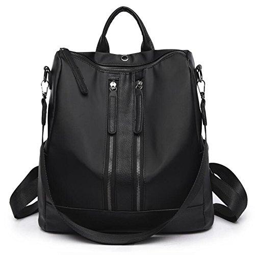 QIDI Mochila Impermeable Viaje Ocio Tela Oxford 32 * 31 * 14 Cm (Color : Black) Black
